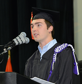 Andrew Ewing at Fall 2016 Engineering Commencement